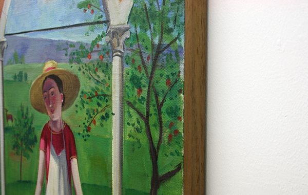Jan Knap - Untitled - 68x100cm Olieverf op canvas (detail)