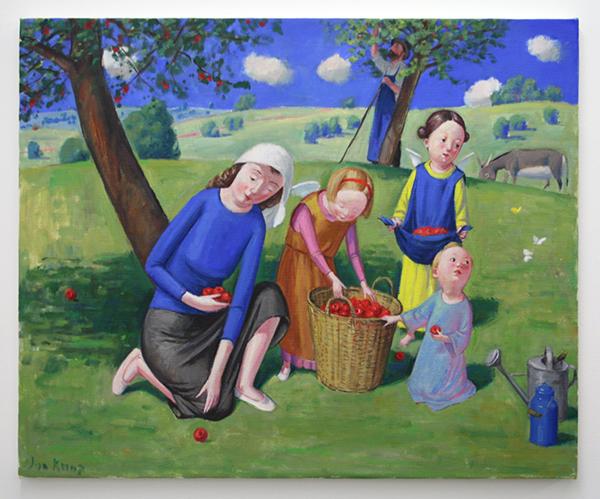 Jan Knap - Untitled - 68x100cm Olieverf op canvas