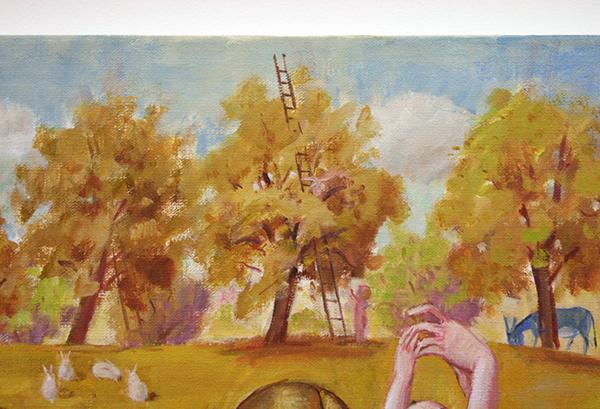 Jan Knap - Untitled - 75x90cm Olieverf op canvas (detail)