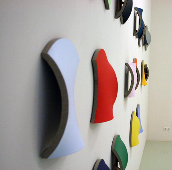 Jan Maarten Voskuil - Alphabet of Silly Colors - Acrylverf op linnen (zijaanzicht)