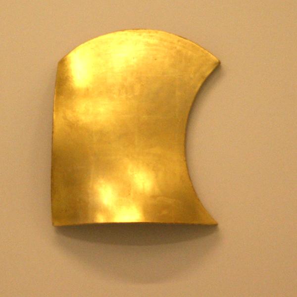 Jan Maarten Voskuil - Ambivalent Shape Gold - Bladgoud op linnen