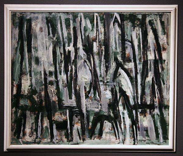 Jan Schoonhoven - Langzaam Groen (Fuga) - 50x60cm Olieverf op paneel