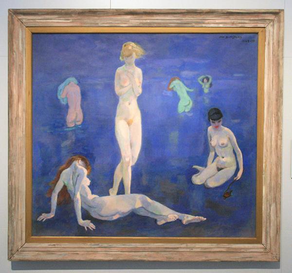 Jan Sluijters - Zes badende Vrouwen - Olieverf op doek