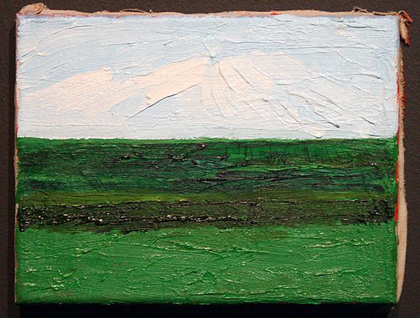 Jan de Bie - Bossche Broek na regenbui - 18x24cm Olieverf op doek