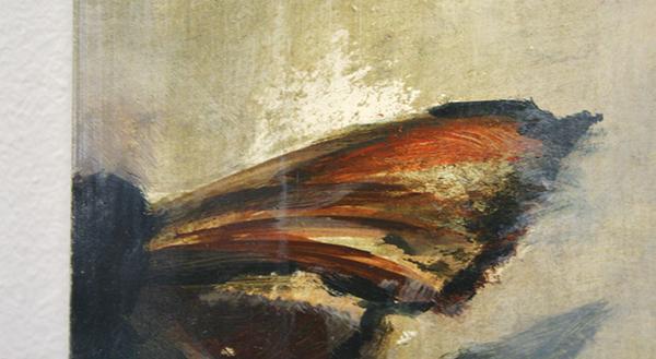 Jasper Hagenaar - The Collector - 38x26cm Olieverf op papier op paneel (detail)