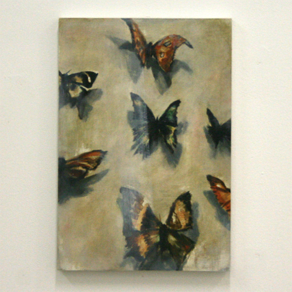 Jasper Hagenaar - The Collector - 38x26cm Olieverf op papier op paneel