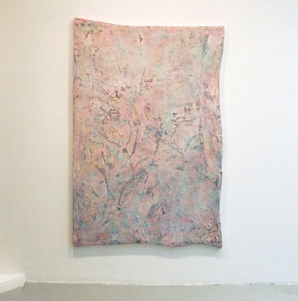 Jay Heikes - Clowning - 183x122cm Burlap, papier, inkt en aluminium