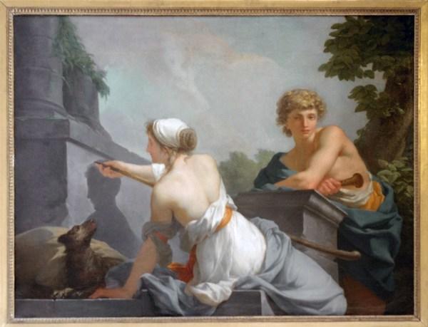 Jean-Baptiste Regnault - The Origin of Painting