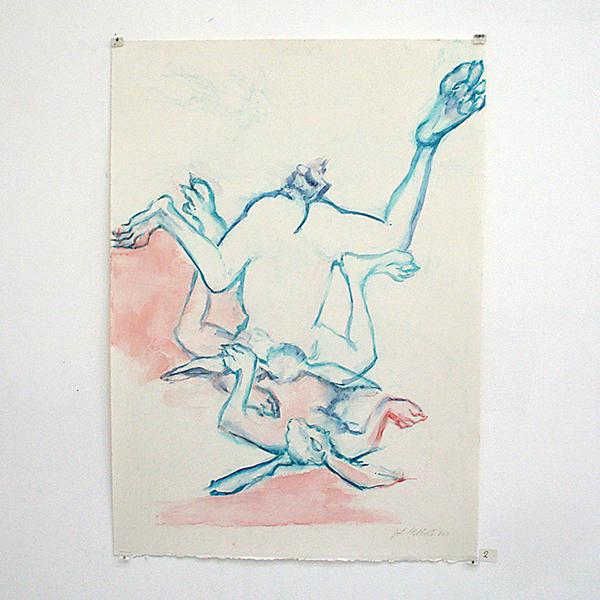 Jenny Lynn McNutt - Split - 60x43cm Gouache op papier