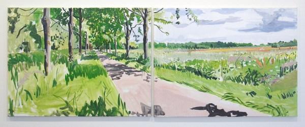 Jim Harris - A Dutch Landscape - 80x212cm Olieverf op linnen