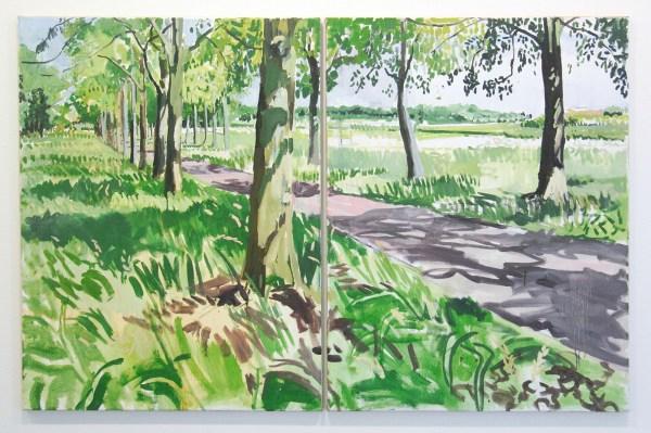 Jim Harris - A Dutch Landscape II - 105x162cm Olieverf op linnen