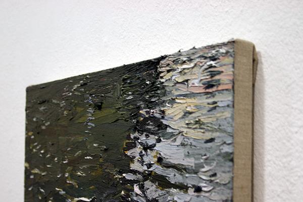 Jim Harris - Geldersekade - 43x41cm Olieverf op doek (detail)