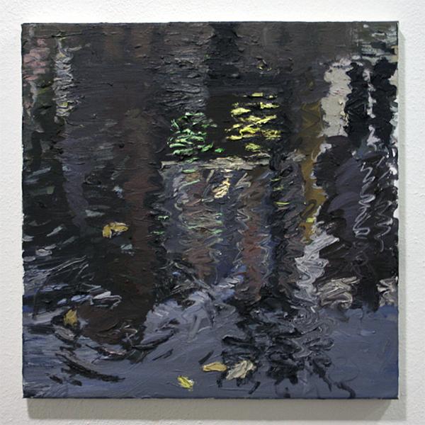 Jim Harris - Geldersekade, Neon Reflection - 60x70cm Olieverf op doek