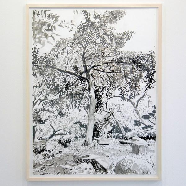 Jim Harris - Japanese Garden - 220x100cm Inkt op papier