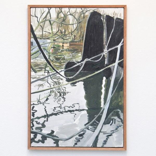 Jim Harris - Untitled - 63x43cm Olieverf op MDF