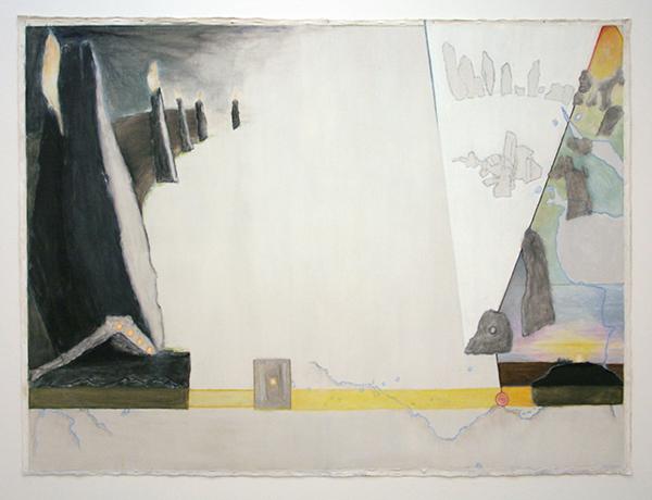 Jo Baer - Dawn (Lines and Destinations) Olieverf op doek