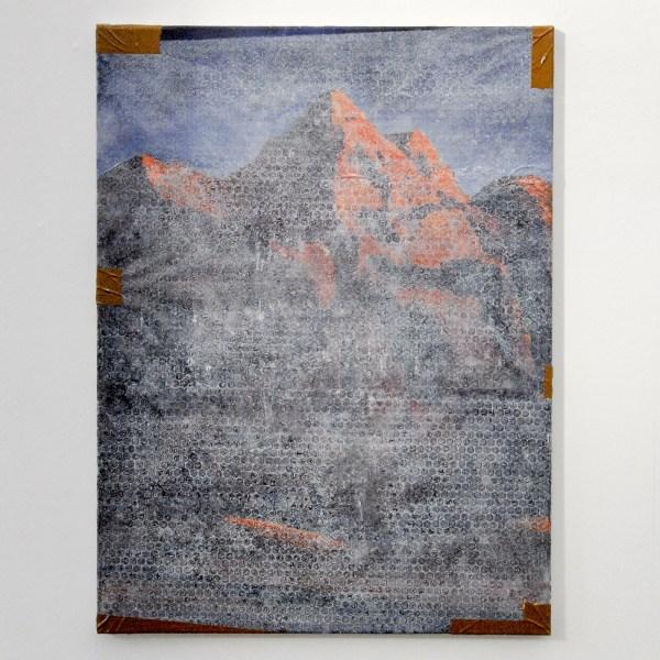 Jochen Muhlenbrink - Gipfel to go - 80x60cm Olieverf en acrylverf op linnen