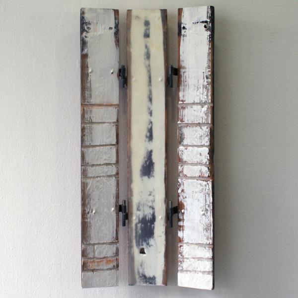 John O'Carrol - Inner Energy - 67x35cm Encaustiek op hout en metaal