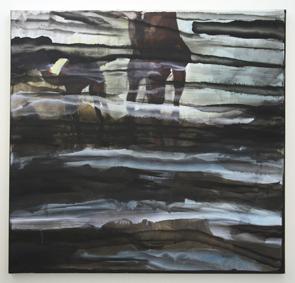 Jop Vissers Vorstenbosch - ABU dhabi TV - 176x185cm Olieverf en spuitbus op canvas
