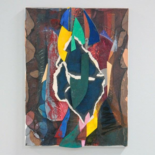 Joseph Montgomery - Image Three Hundred Seven - 41x31x4cm Pastel, papier, klei, plastic en pigment transfer op linnen