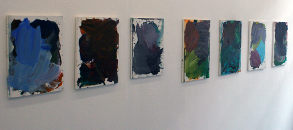 Josh Smith - Untitleds (Palette Paintings) - 51x41cm & 61x26cm Olieverf op canvas