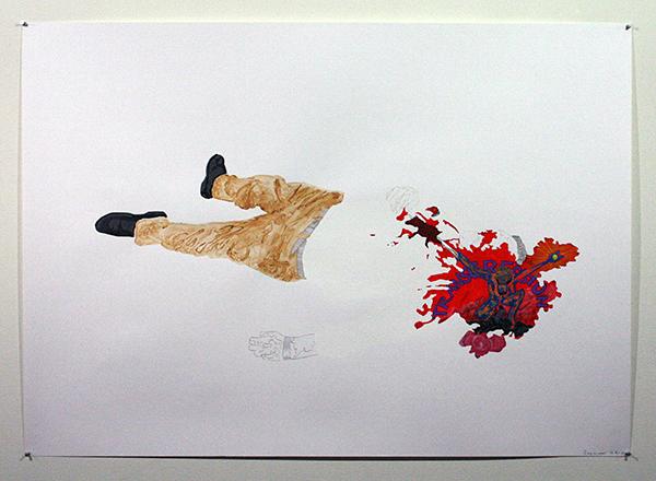 Justin Wijers - De Heilige Drie-Eenheid - 100x140cm Mixed Media op papier