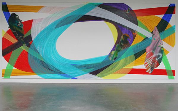 Katharina Grosse - Zonder Titel - Acrylverf op doek 2009