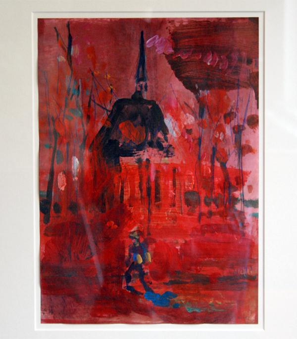 Koen Broucke - The Lost Van Gogh (Amsterdam) - 36x25cm Acrylverf op papier