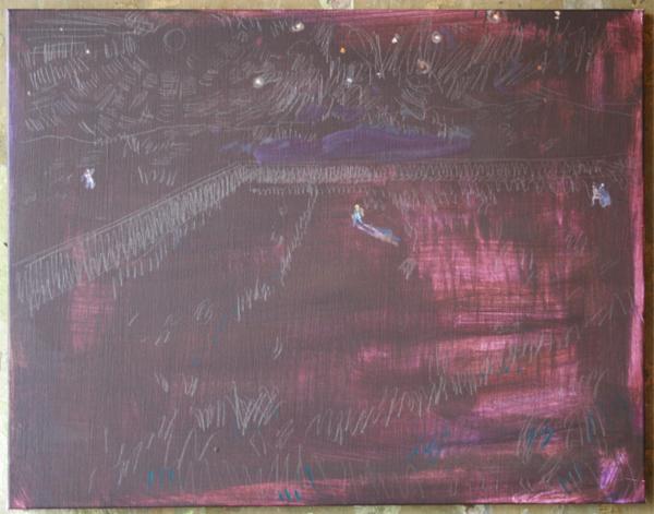 Koen Broucke - Zonder Titel (Saint Remy)- 70x90cm Acrylverf op doek