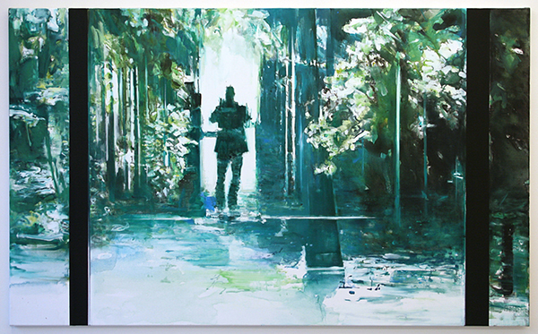 Koen Vermeule - Mirror Me - 110x180cm Olieverf en acrylverf op canvas