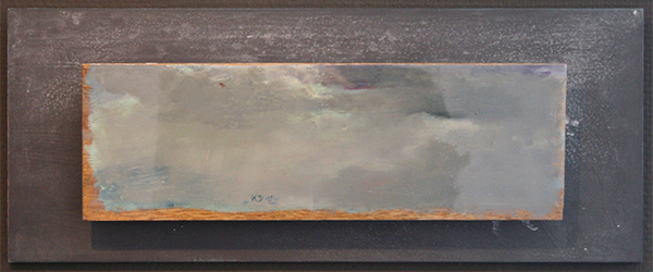 Kris Duys - Wolkenlucht - 20x50cm Olieverf op paneel