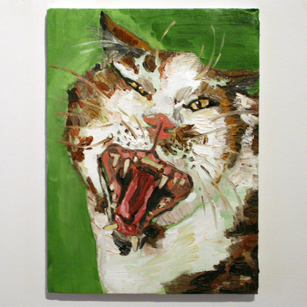 Larissa van Zanen - Untitled - 50x40cm Olieverf op canvas