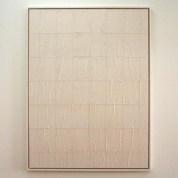 Latifa Echakhch - Sans Titre XXXV - Wit carbonpapier op papier