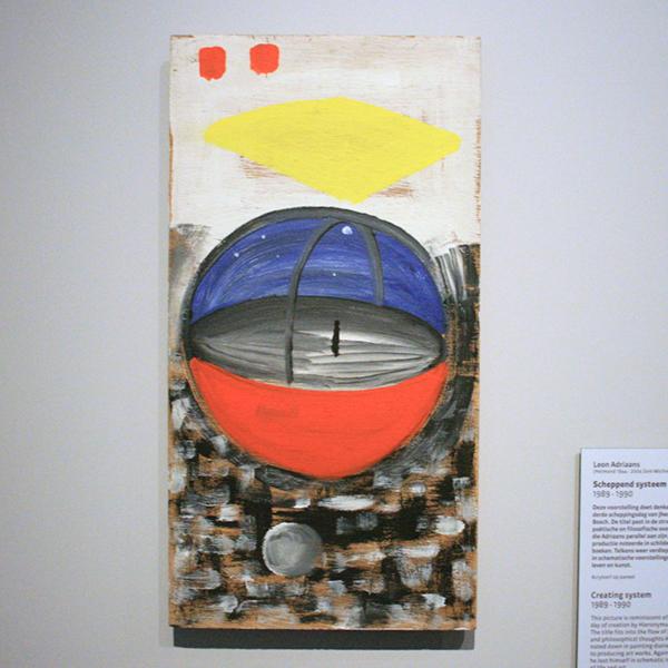 Leon Adriaans - Scheppend Systeem - Acrylverf op paneel