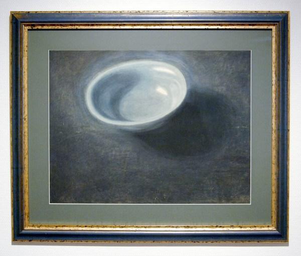 Leon Spilliaert - De Blauwe Teil - Oost-Indische inkt, gewassen, aquarel en kleurpotlood op papier 1907