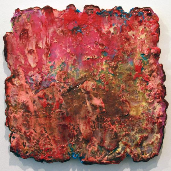 Lev Khesin - Hwyl - 45x46cm Siliconen en pigment op doek