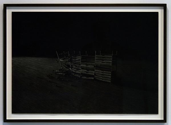 Levi van Veluw - Collapsing Cabinet - 51x73cm Houtskool op papier