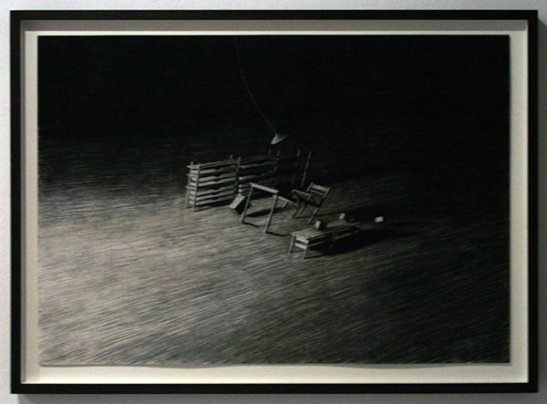 Levi van Veluw - Room I - 51x73cm Houtskool op papier