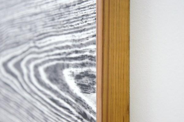 Lisa Oppenheim - Landschape Portraits (Teak) (Version I) - 66x104cm per deel, Twee gelatine fotogrammen in unieke lijsten (detail)