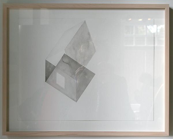 Loek Grootjans - Storage for Distorted Matter - 12 aquarellen, waarvan 9 Asylum for Vincent van Gogh (detail)