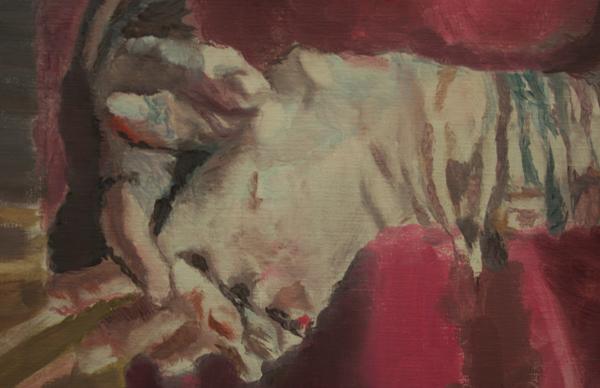 Luc Tuymans - HM - Olieverf op doek (detail)
