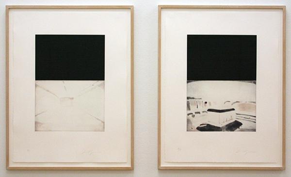Luc Tuymans - The Temple - Portfolio 8 etsen in aquatint op BFK Rives papier oplage 35 + 10 AP