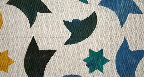 Lucy McKenzie - Alhambra Motifs II - Olieverf op doek (detail)