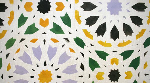 Lucy McKenzie - Alhambra Motifs III - Olieverf op doek (detail)