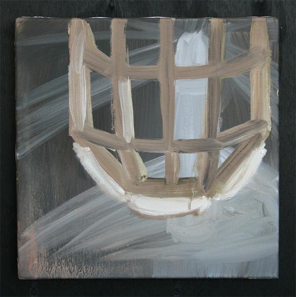 Machteld Solinger - Verborgen Vuurtoren - 30x30cm Olieverf op doek