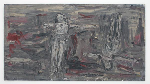 Marc Mulders - Corpus op Ateliervloer - Olieverf op doek