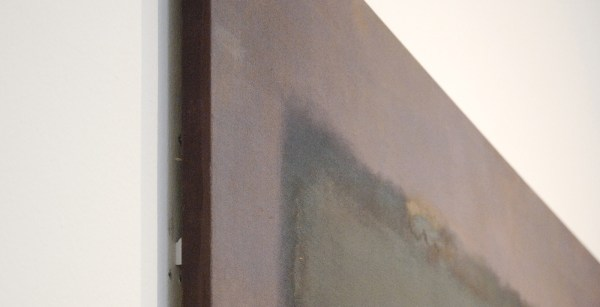 Marc Rothko - No 8 (Grey, Orange on Maroon) - Mixed media op doek, 1960 (detail)