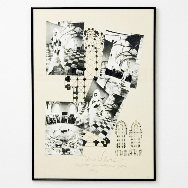 Marinus Boezem - L'Umo Volante - 96x68cm Foto's, collage en inkt, 1979