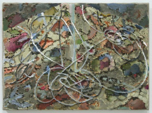 Mark Swords - Carpet Drawing - 29x39cm Olieverf op iets op linnen