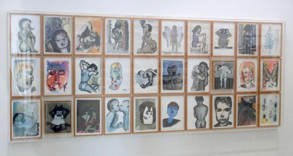 Marlene Dumas - Kunstproject De Wissel - 28 aquarellen op papier en 2 olieverf op doek